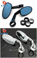 Universal Motorcycle 22MM 7/8' CNC Handle Bar End Delicate Rearview Side Mirrors
