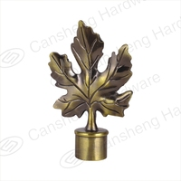 cheap curtain rod leaf finial factory wholesale