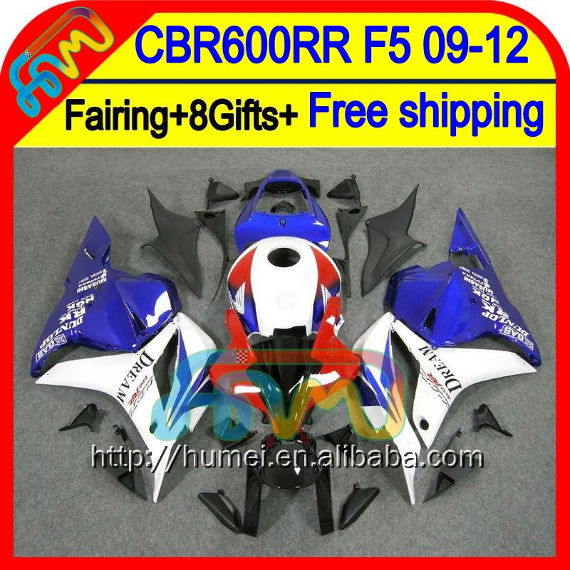 8Gifts Blue red F5 For HONDA CBR600RR 2009 2010 2011 2012 47HM42 White CBR 600RR 600 RR CBR600 RR 09 10 11 12 Injection Fairing