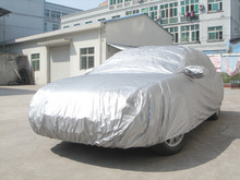 Easy opperation car cover 170T 190T polyester with silver coated