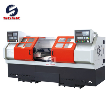 CNC lathe machining metal SCK6236x2 double spindle cnc lathe machine