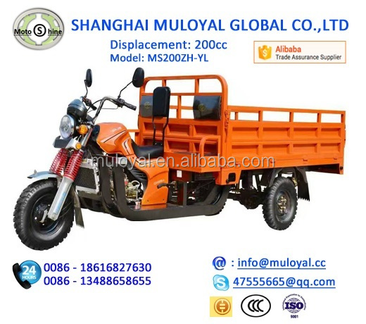Tricycle Motorized Gasoline Three Wheel Cycle for Cargo and Passenger