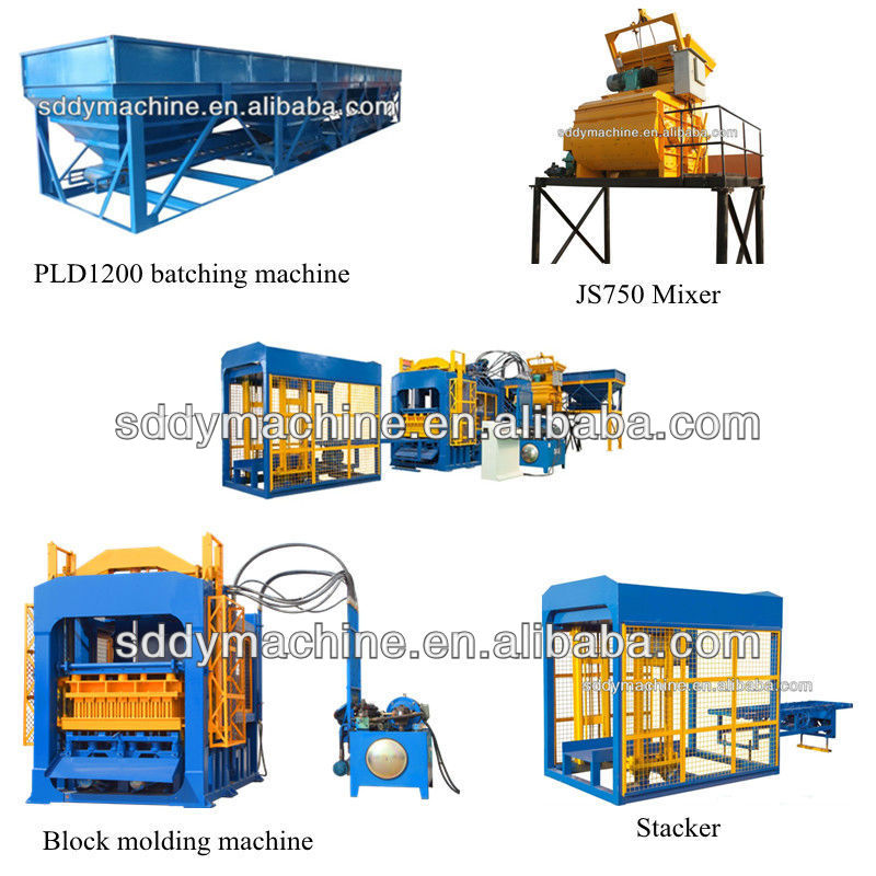 automatic clay brick manufacturing plant QT6-15B