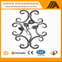 AJFP-06 water-proof &durable villa fence cast iron decorative flowers and leaves