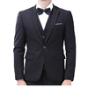 Wool Suits Gentleman Plaid Formal Suits