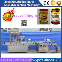 shanghai manufacture YB-JG4 chilli sauce glass bottle filling and capping machine with CE