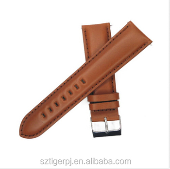 Genuine Leather Watch Band 16mm 18mm 22mm 24mm Strap Light Brown Man Woman