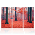 3 Pieces HD Printed Autumn Forest Landscape Painting Nature Scenery Wall Picture on Canvas Living Room Decor Home Gift/SJMT1947