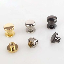 Meetee BD395 8/10mm Metal <strong>Flat</strong> Bottom Screw Button DIY Sewing Accessories Clothing Bag Studs