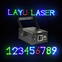 Mini 300mW RGB animation keyboard text laser light projector laser show