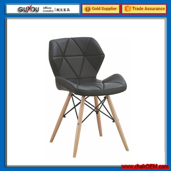 New style colorful dining chair with pu leather gy 604 for Colorful leather dining chairs
