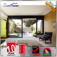 Australia AS2047 standard commercial system australian grade sliding aluminium doors with mosquito netting
