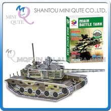 Mini Qute Super Tank panzer building blocks 3d paper puzzle diy model cardboard jigsaw puzzle game educational toy NO.B468-2