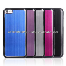 Brushed Metal Aluminum Hard Case Cover For Iphone 5C black side/white side