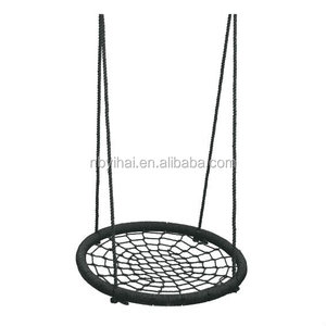 outdoor black bird nest children swing kids swing chair