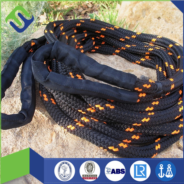 "3/4"" Kinetic rope stretch tow rope recovery vehicle, 24mm double braided nylon rope"