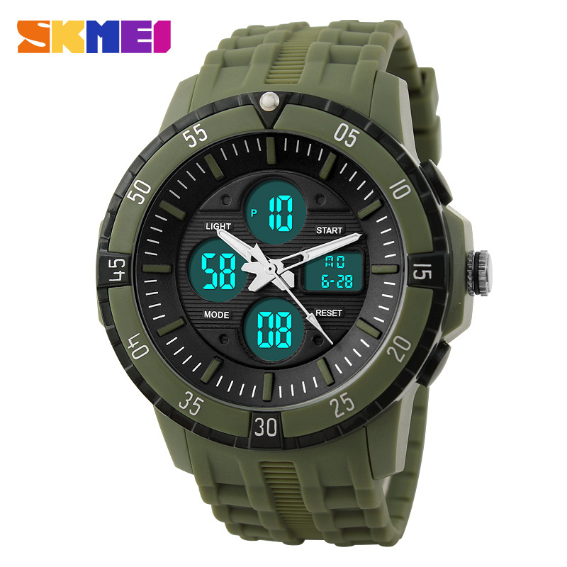 SKMEI Japan Movement Analog Digital Wrist Watch Plastic Cases for Men China's Alibaba