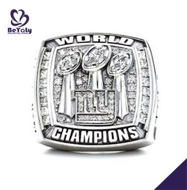 IP&PVD plating 2007 New York Giants white gold championship ring