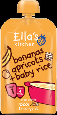 Ella's Kitchen Banana Apricot Baby rice 120g Stage 1 ( 4 months +)