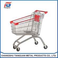 Fastest shopping trolley with wheel lock