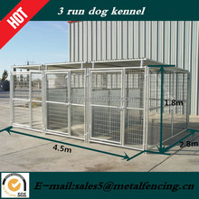 3 runs dog kennels with spliter and roof