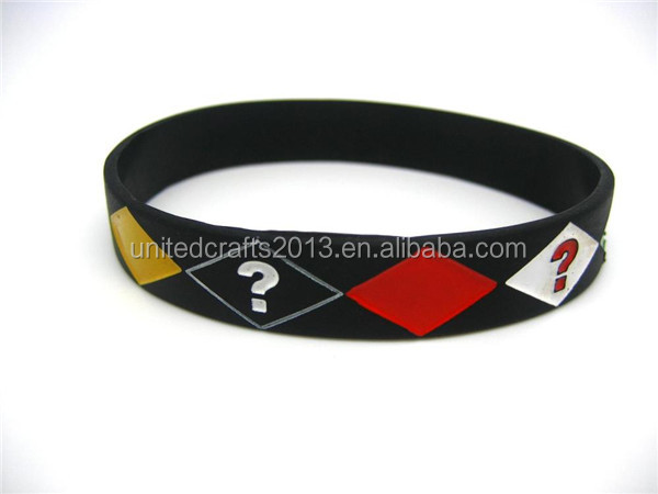 FREE Wholesale Silicone Rubber Elasticity Wristband Bracelet Peace Sign Star