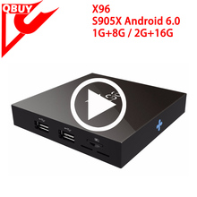Best and Cheapest X96 Android 6.0 Marshmallow Tv Box Penta-core GPU 1GB/8GB 2GB/16GB X96 Android Tv Box Amlogic S905x