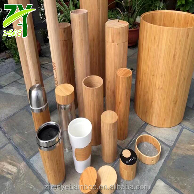ZY-829 Bamboo Tubes Eco-friendly Bamboo Canister Set