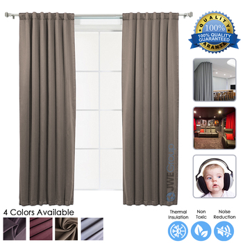 Arrowzoom Brown 99.9% Blackout Thermal Insulation Soundproofing Window Curtain Panel