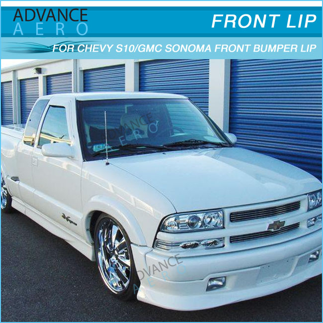 FOR 1998-2004 CHEVY S10 POLY URETHANE FRONT BUMPER LIP SPOILER BODY KIT