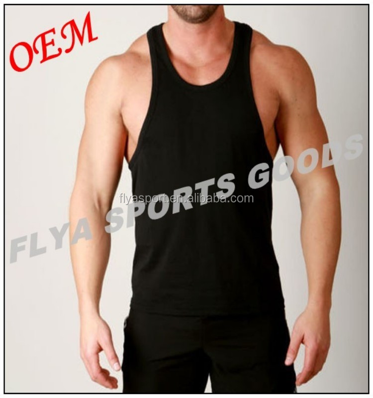 2018 hot selling custom gym vest for men made in China tank top bodybuilding stringer