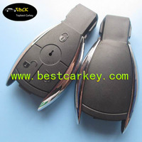 Topbest Mercedes Benz key case fit for S -class 3 buttons MB Key Chrome