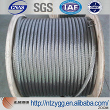 galvanized ungalvanized steel cable and wires steel wire rope 6x19 7x19 size from 11mm to 50mm made in nantong zhengyang