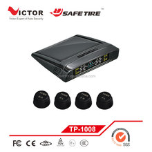 Car Solar Wireless TPMS Tire Alarm Pressure Monitor System + 4 External Sensors