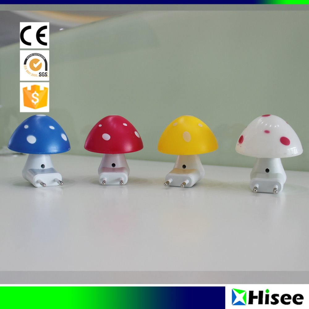 Factory price cute light-operated plug in baby led mushroom light