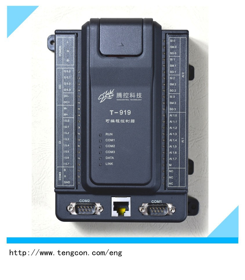 Wide temperature PLC TENGCON T-919(8AI/8DI/4DO/4PT100) plc for industrial automation
