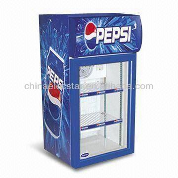 commercial display table top mini fridge freezer with LED/mini glass door fridge freezer
