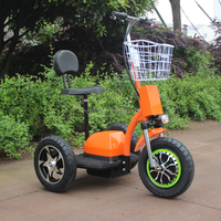 48V 500W 20AH CE approved adult three big wheel electric zappy scooter with basket