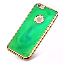 Luxury Chrome Emerald Silicone TPU Gel Soft Back Case Cover For iPhone 6 Plus