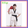 cotton martial arts supplies short sleeve wtf taekwondo suits