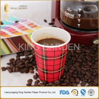 Hot sale customized single wall disposable 8oz paper cup with lids