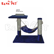 China latest design dark blue cat toy sisal cat tree pet product