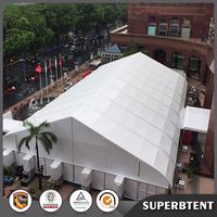 Big curved tent warehouse for aircraft