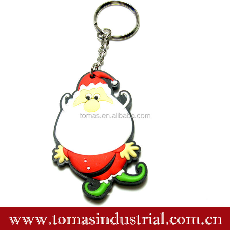 Custom Promotion Gifts Christmas Man Keychain Cheap PVC Key Chain