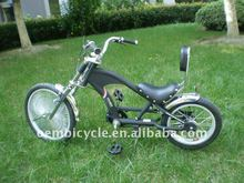 "16""cruiser bicycle steel black children chopper bike"