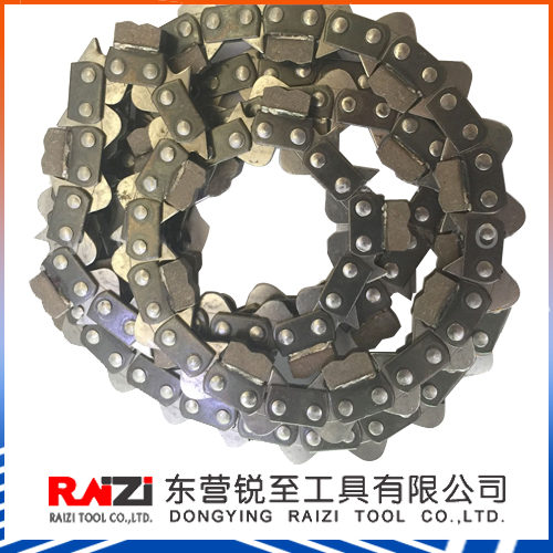 "gasoline chainsaw parts 3/8"" pitch diamond chain saw for concrete brick wall cutting"