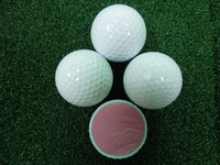 Promotional rubber two pieces practice golf balls high quality