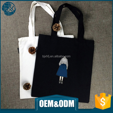 Promotional high quality cute image 12oz printed cotton shoulder bags cotton canvas tote bag