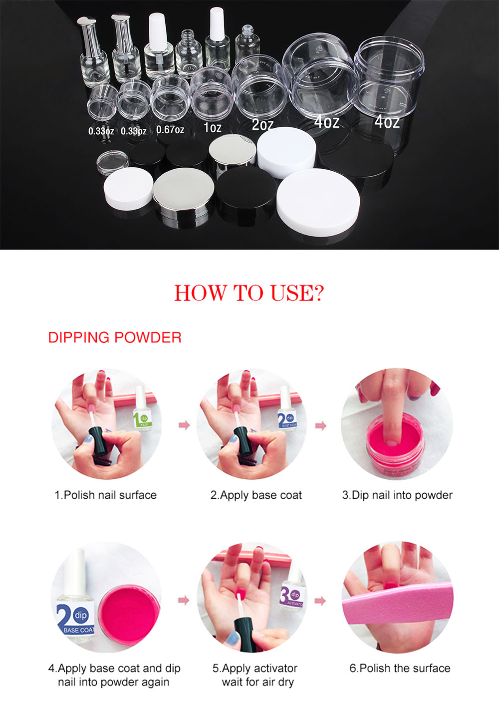 OEM Private Label 1000 Color Acrylic Nail dipping Powder