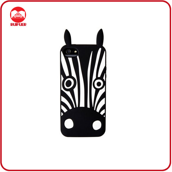 2013 Hot Marc By Marc Jacorbs Zebra Animal Shaped Silicone Case for iphone 5